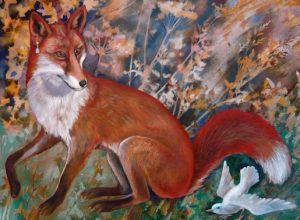 Teresa Winchester - Fox and White Bird Card