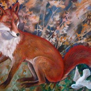 Teresa Winchester - Fox and White Bird Card
