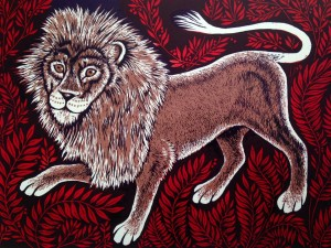 Teresa Winchester - Lion and Leaves
