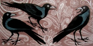 Kerala crows print