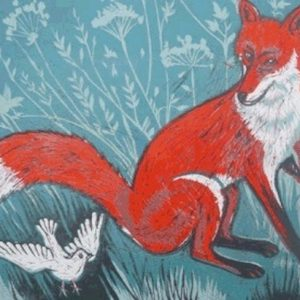 Teresa Winchester - Fox and a white bird
