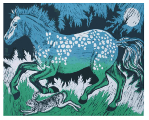 Horse and Hare Blue