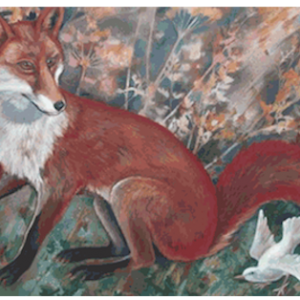 Fox and white bird