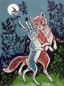 Teresa Winchester - Trotting with a fox