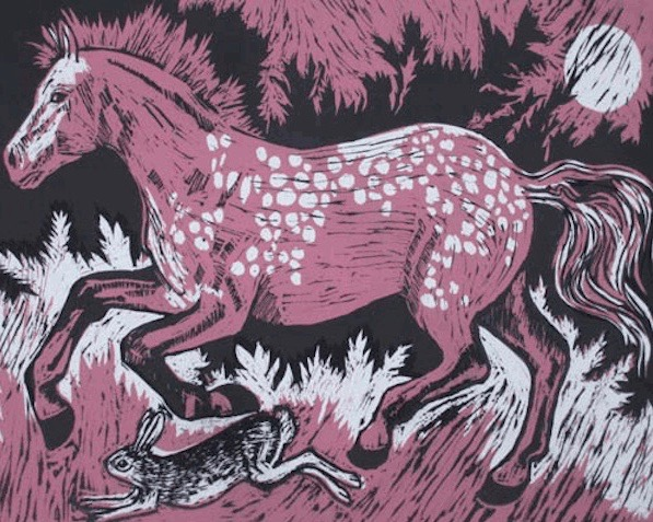 Teresa Winchester - Horse and the hare (Pink)